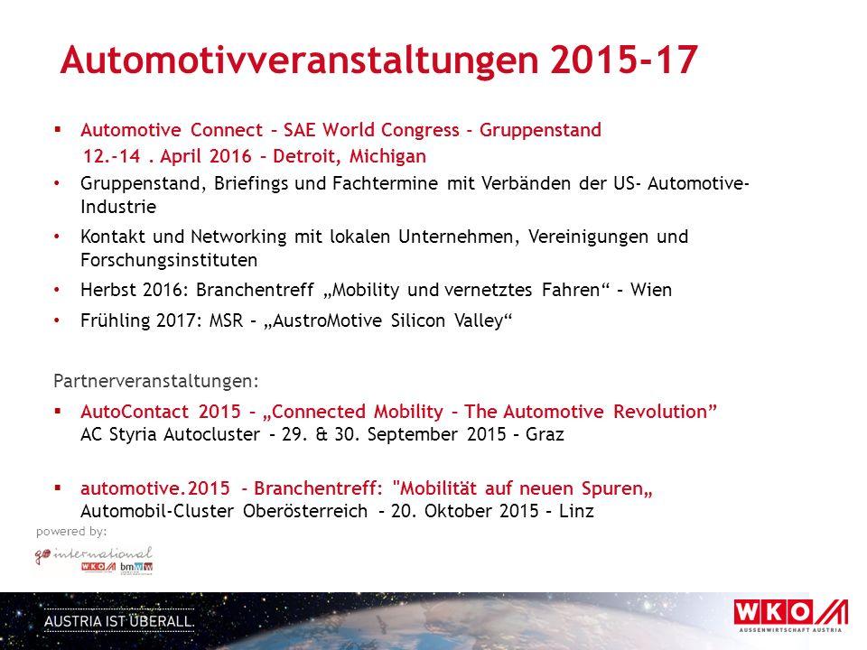 Automotivveranstaltungen 2015-17