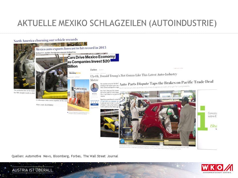 Aktuelle Mexiko Schlagzeilen (Autoindustrie)