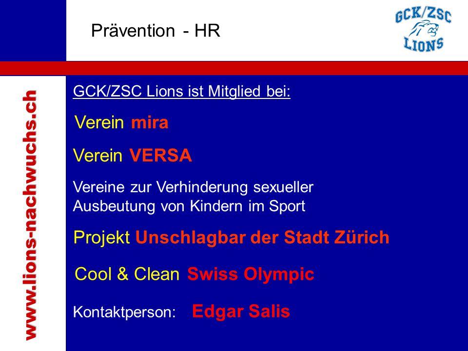 Traktanden Prävention - HR Verein mira Verein VERSA