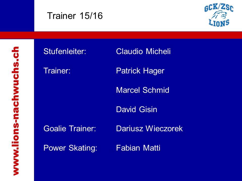 Traktanden Trainer 15/16 www.lions-nachwuchs.ch