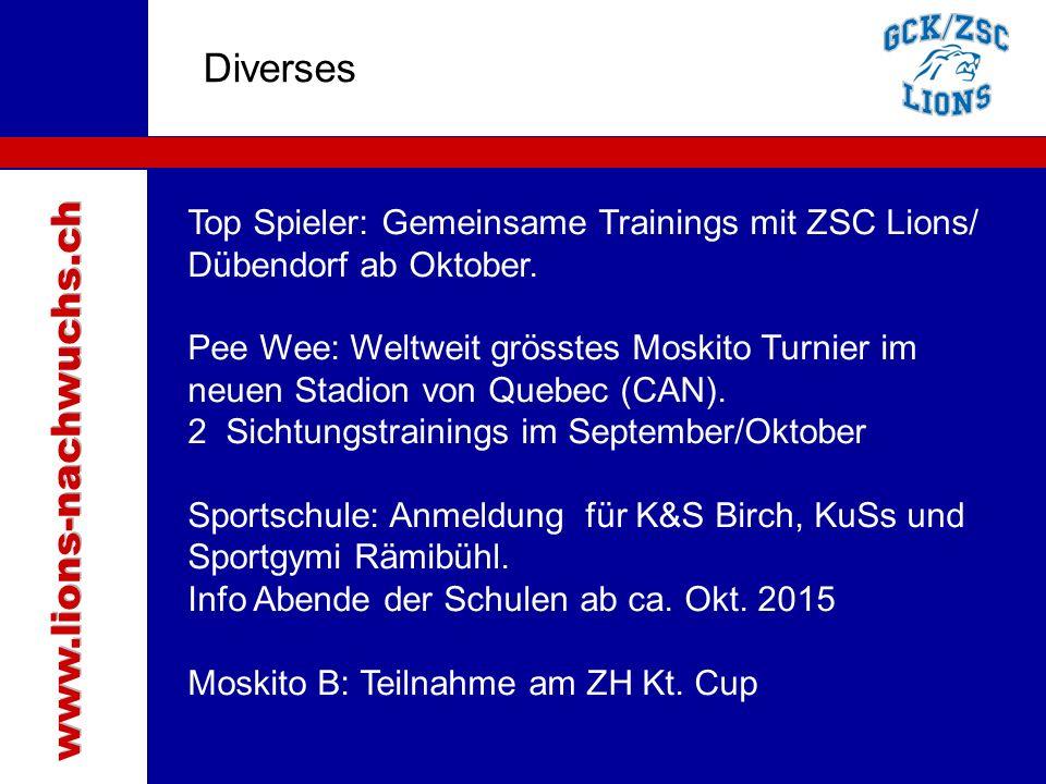 Traktanden Diverses www.lions-nachwuchs.ch
