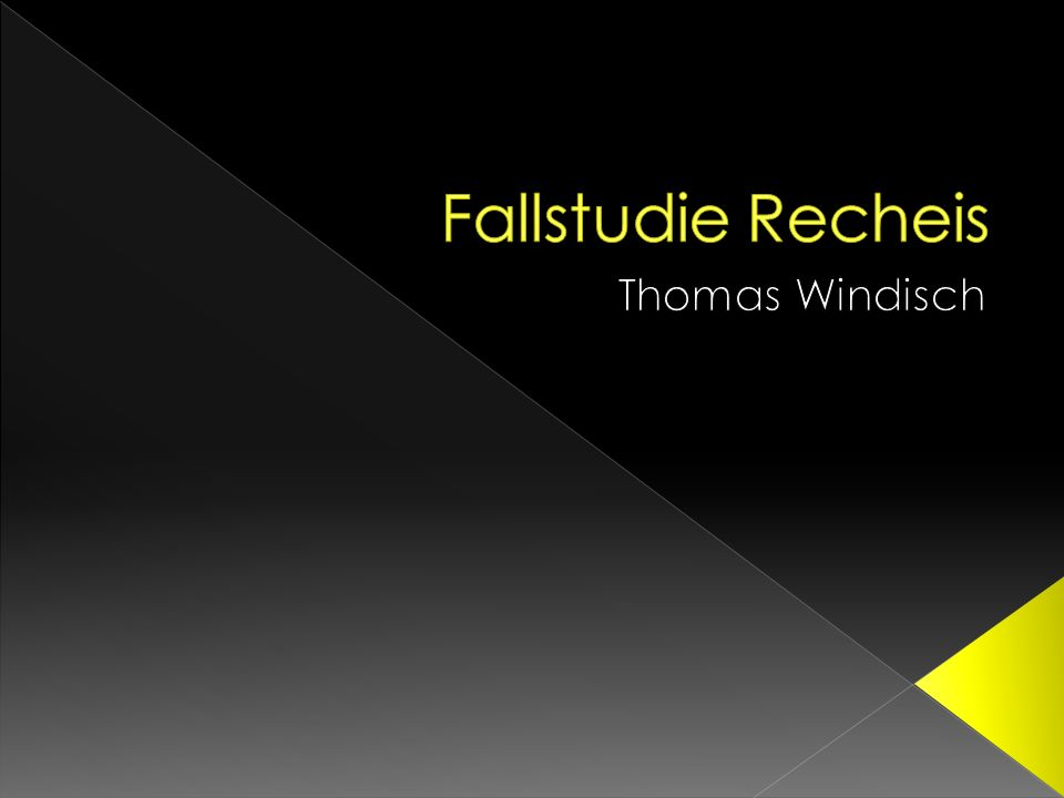 Fallstudie Recheis Thomas Windisch