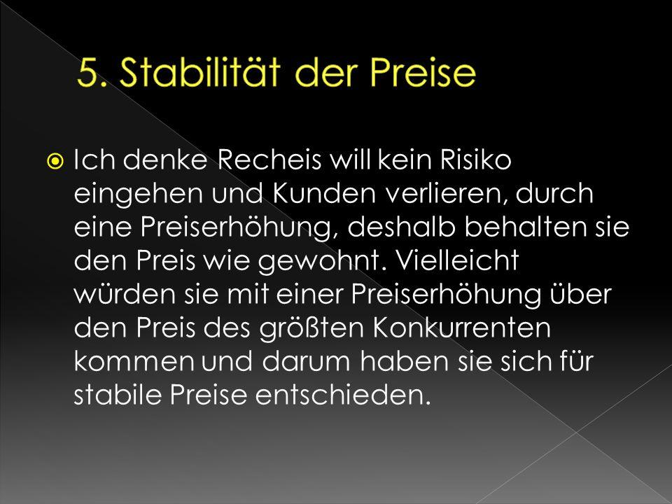 5. Stabilität der Preise