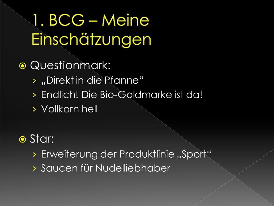 1. BCG – Meine Einschätzungen