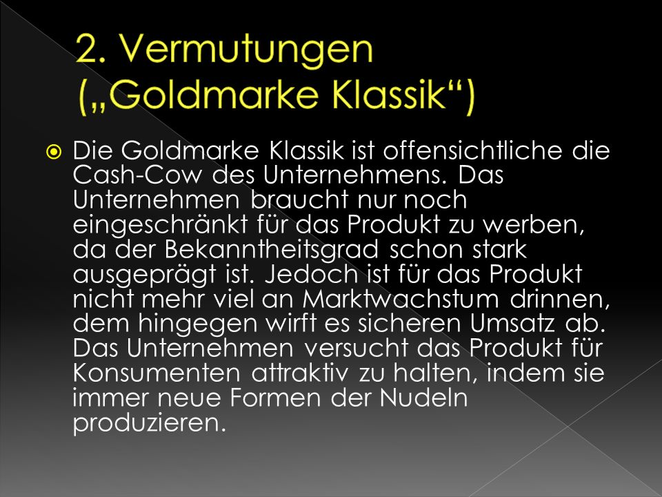 "2. Vermutungen (""Goldmarke Klassik )"