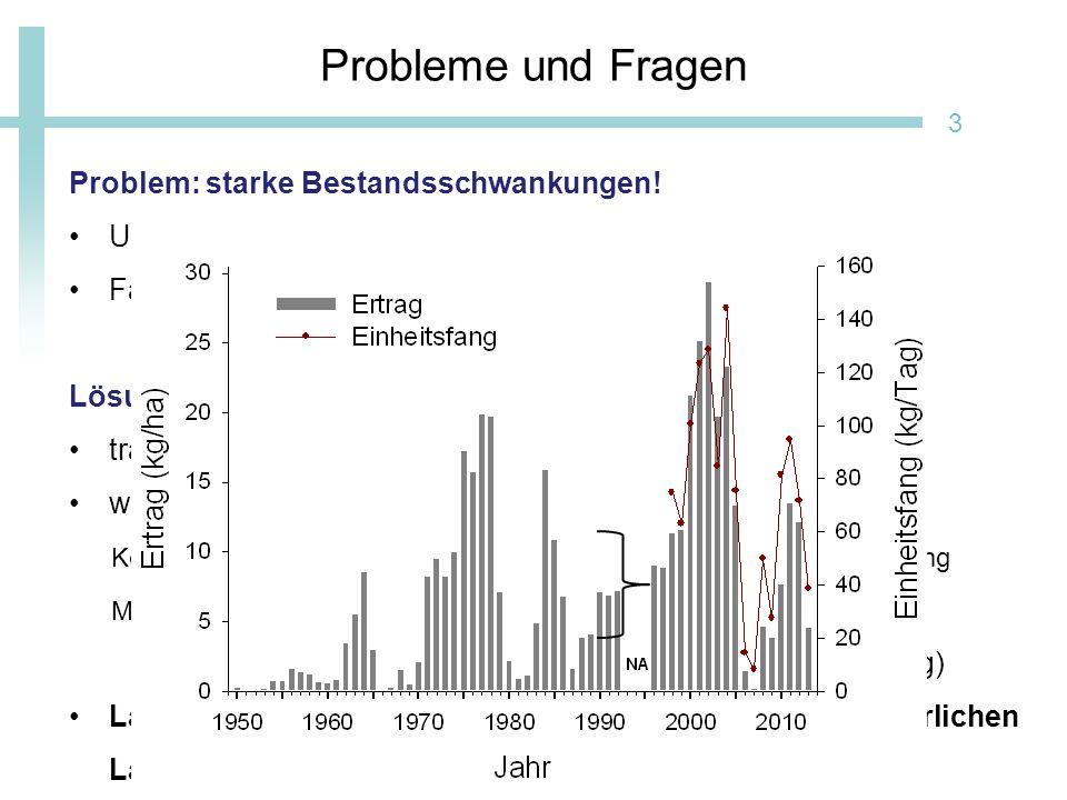 Probleme und Fragen Problem: starke Bestandsschwankungen!
