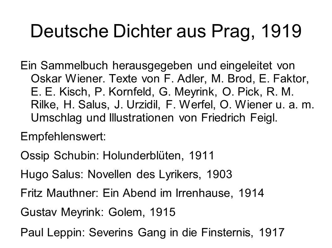 Deutsche Dichter aus Prag, 1919