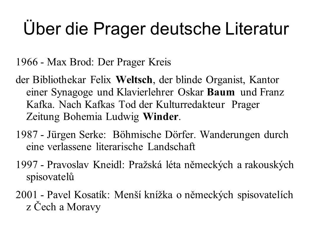 Über die Prager deutsche Literatur