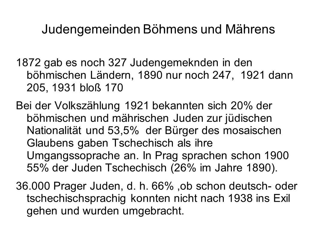 Judengemeinden Böhmens und Mährens