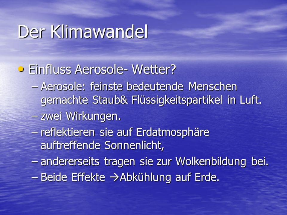 Der Klimawandel Einfluss Aerosole- Wetter
