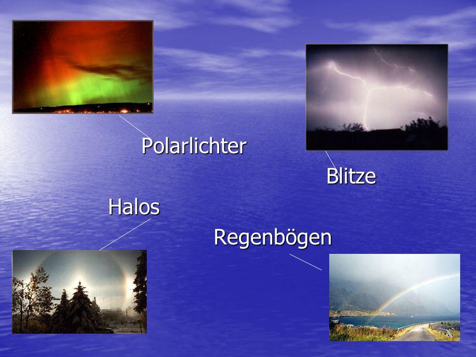 Polarlichter Blitze Halos Regenbögen