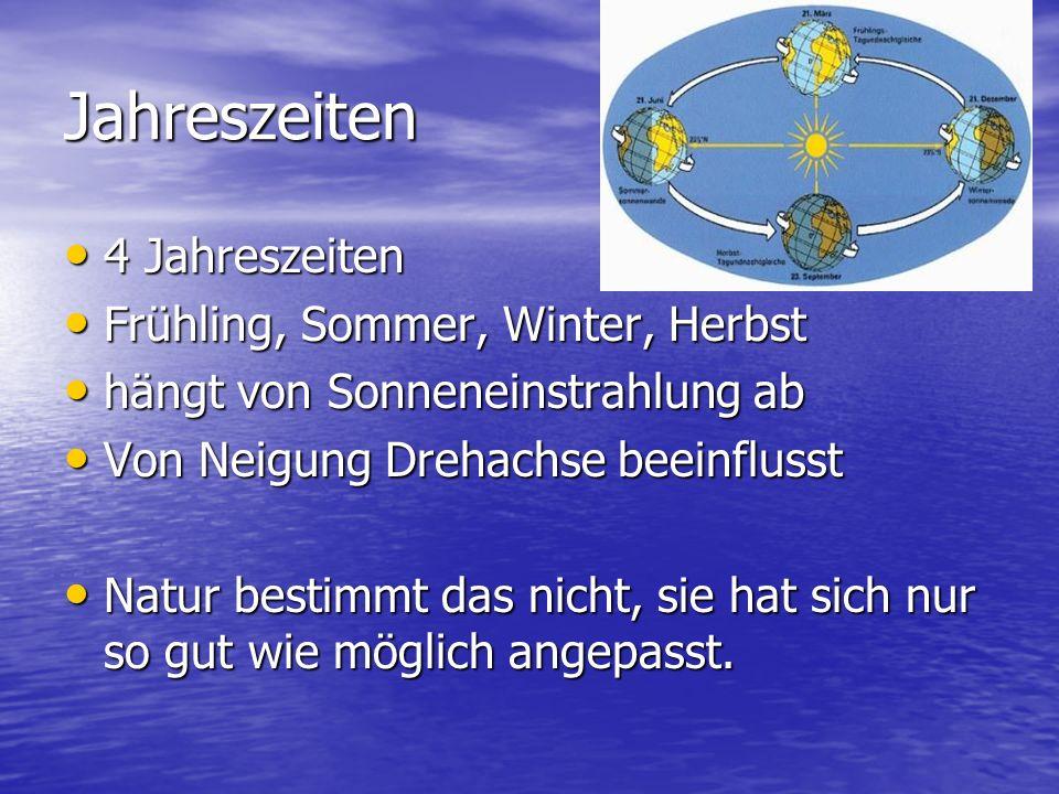Jahreszeiten 4 Jahreszeiten Frühling, Sommer, Winter, Herbst