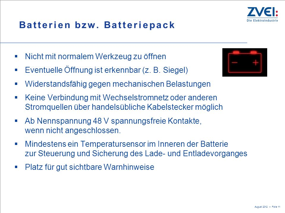 Batterien bzw. Batteriepack