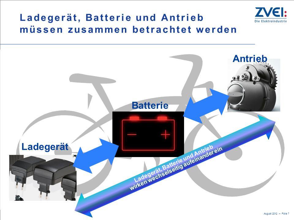 Ladegerät, Batterie und Antrieb müssen zusammen betrachtet werden