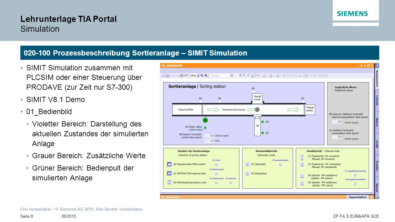 Lehrunterlage TIA Portal Simulation