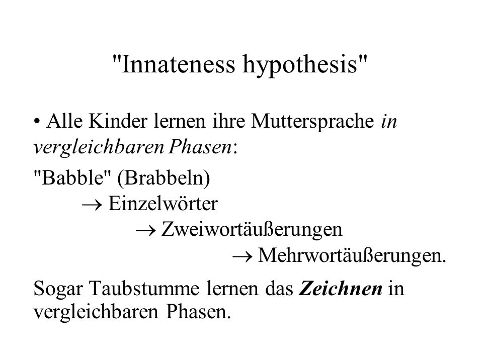 Innateness hypothesis
