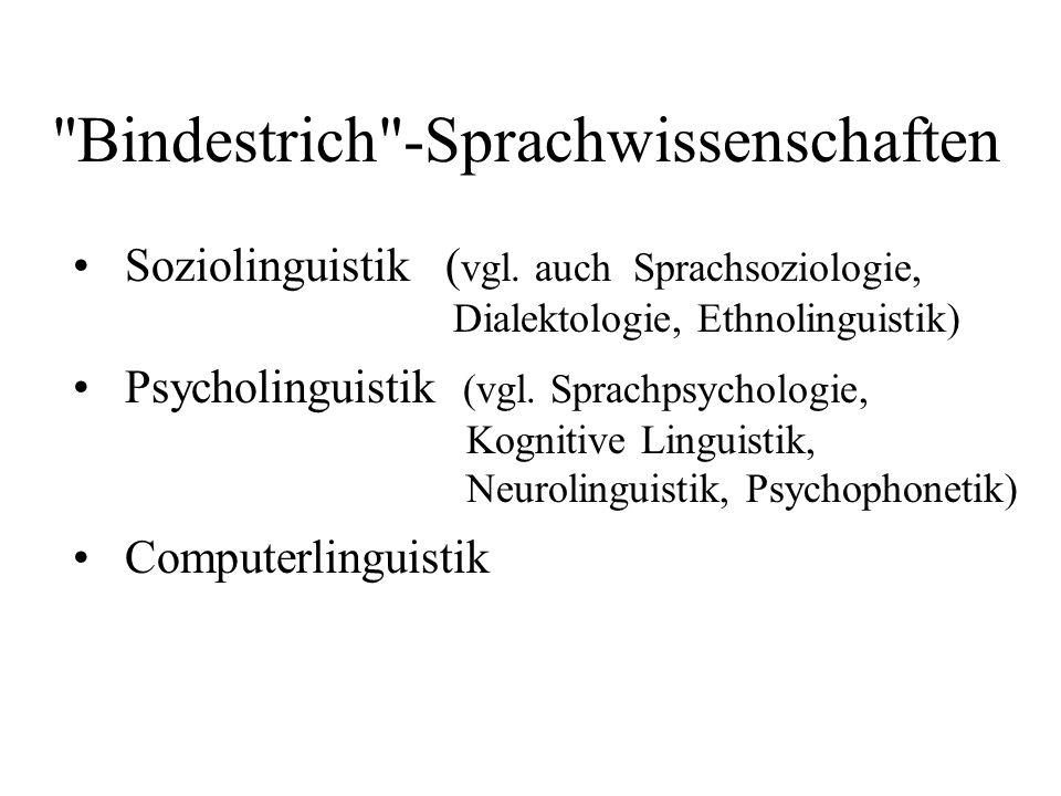 Bindestrich -Sprachwissenschaften