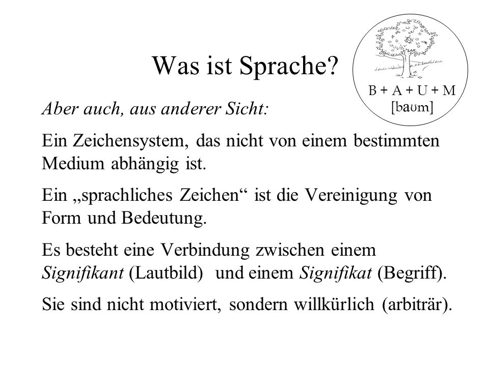 Was ist Sprache Aber auch, aus anderer Sicht:
