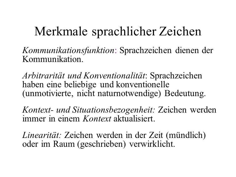 Merkmale sprachlicher Zeichen