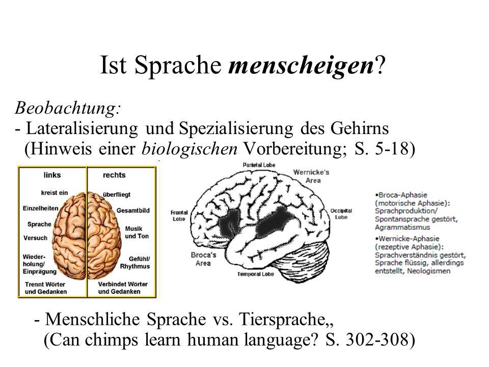 Ist Sprache menscheigen