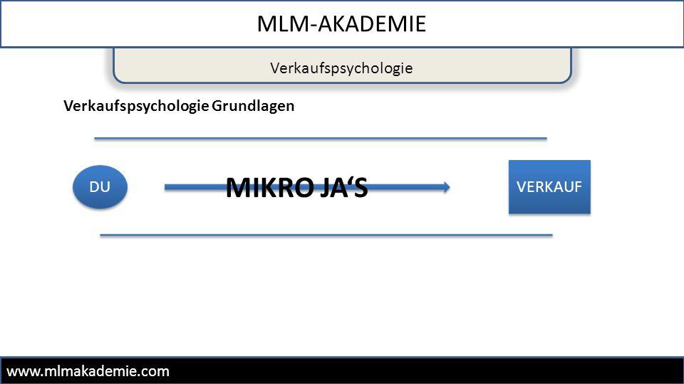 MIKRO JA'S MLM-AKADEMIE Verkaufspsychologie