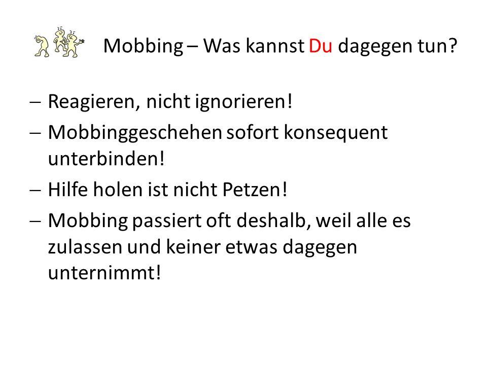 Mobbing – Was kannst Du dagegen tun