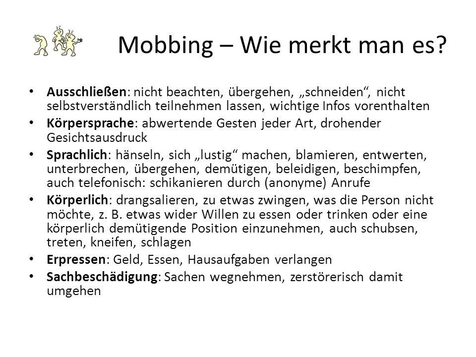 Mobbing – Wie merkt man es