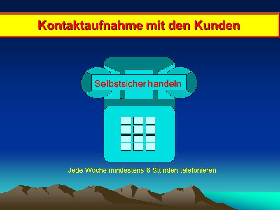 Kontaktaufnahme mit den Kunden