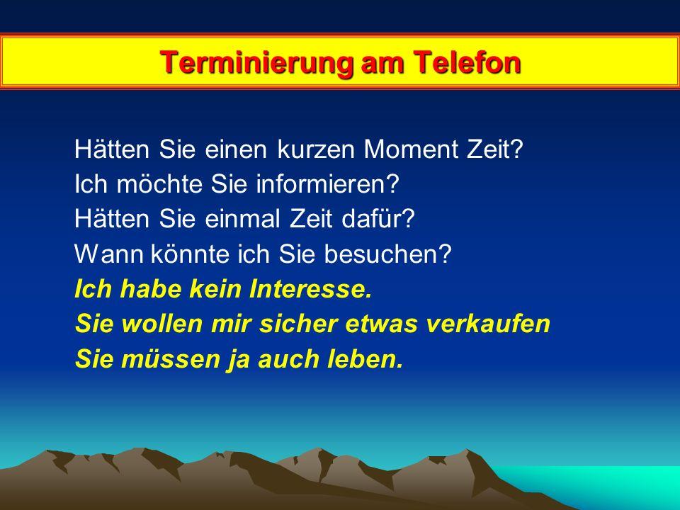 Terminierung am Telefon