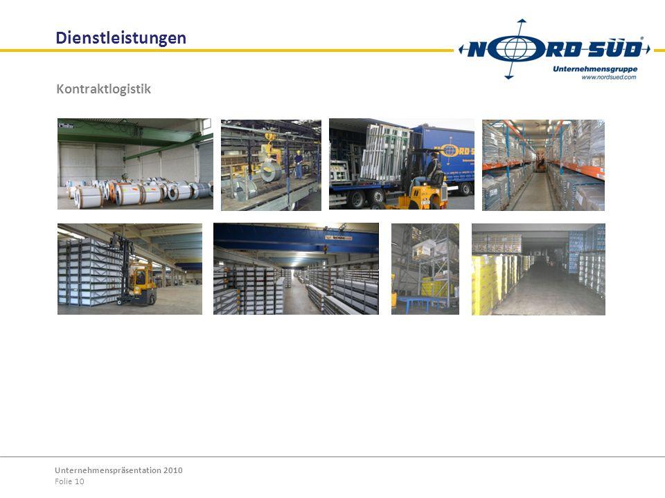 Dienstleistungen Kontraktlogistik Unternehmenspräsentation 2010
