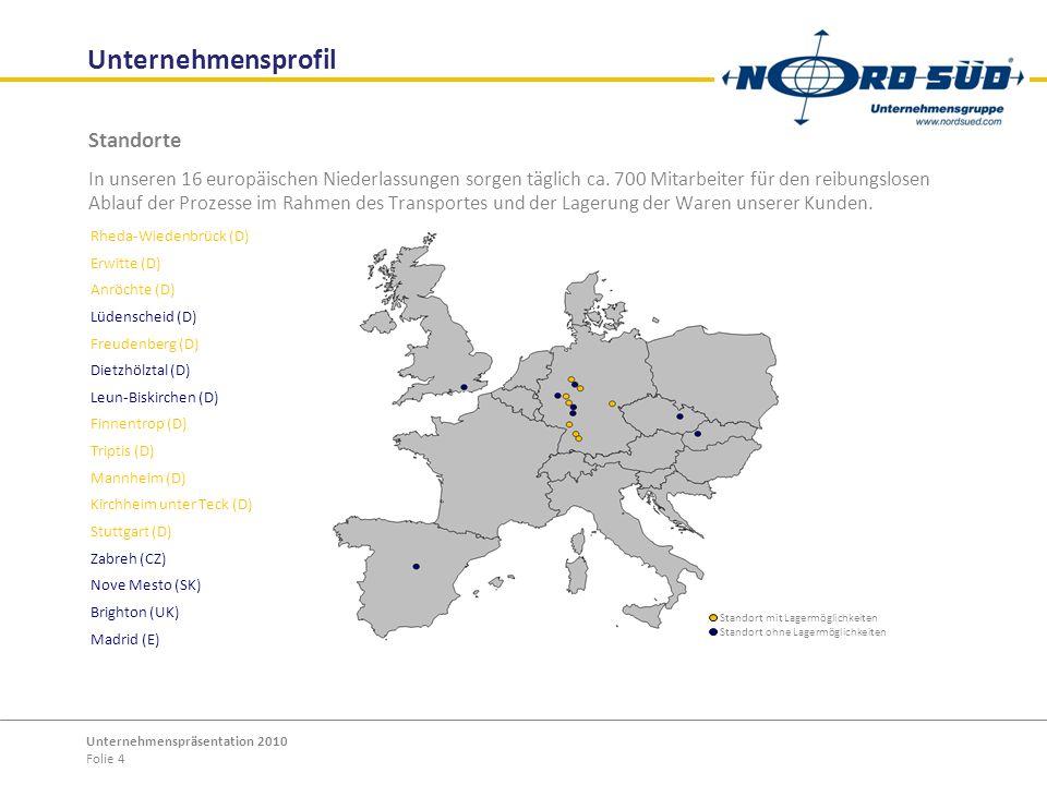 Unternehmensprofil Standorte
