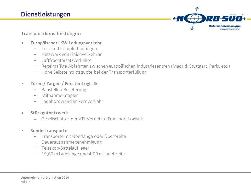 Dienstleistungen Transportdienstleistungen
