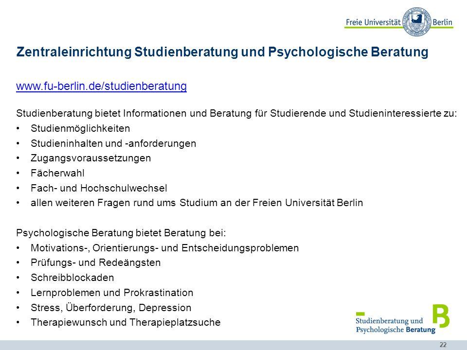 Zentraleinrichtung Studienberatung und Psychologische Beratung