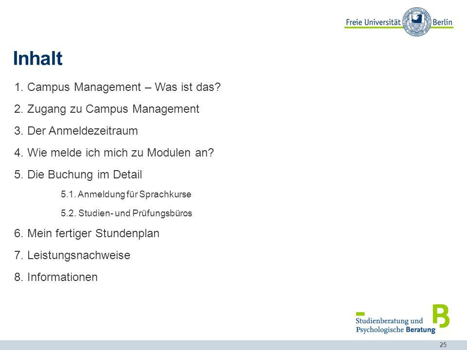 Inhalt Campus Management – Was ist das Zugang zu Campus Management