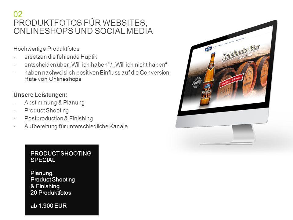 PRODUKTFOTOS FÜR WEBSITES, ONLINESHOPS UND SOCIAL MEDIA