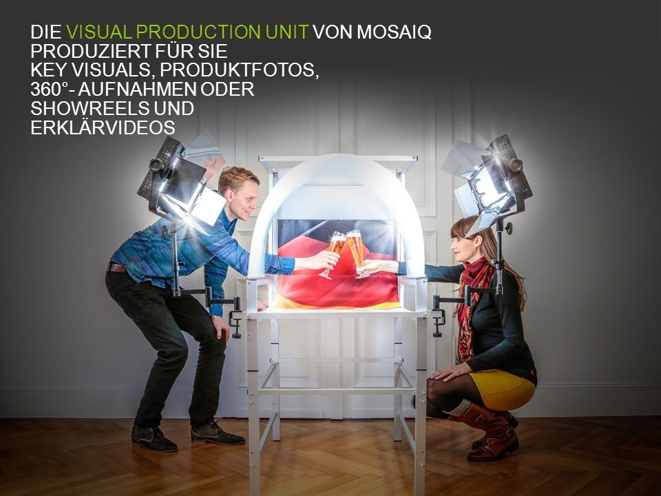 DIE VISUAL PRODUCTION UNIT VON MOSAIQ