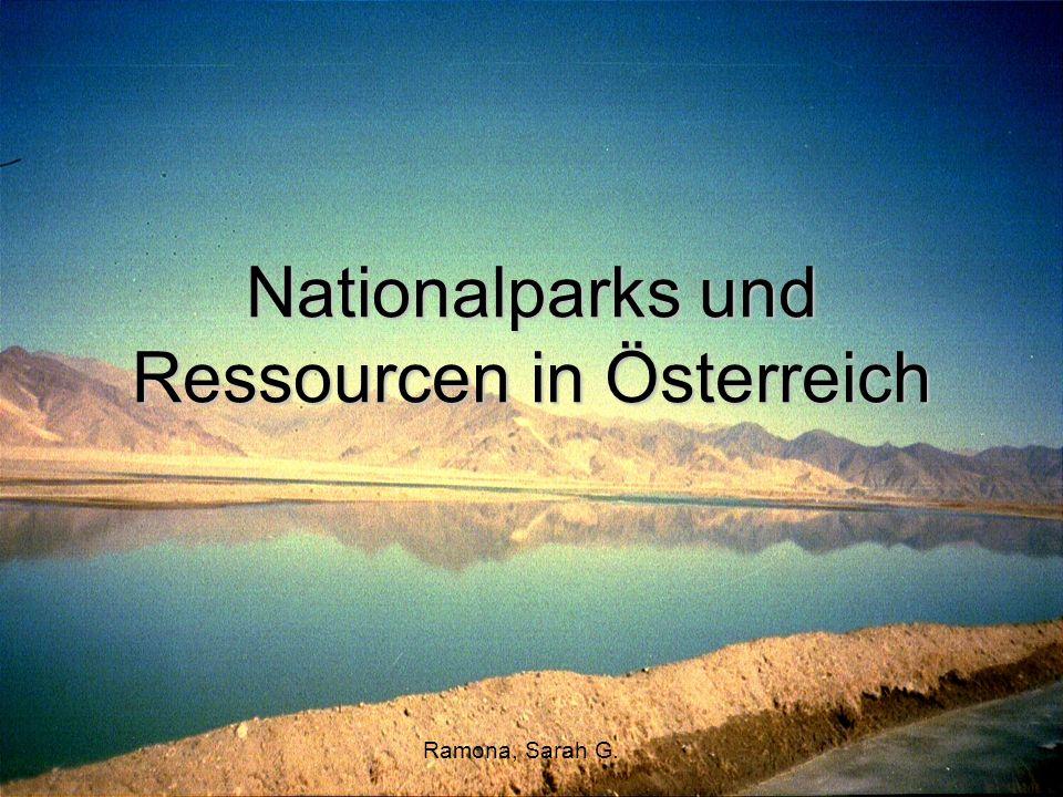 Nationalparks und Ressourcen in Österreich
