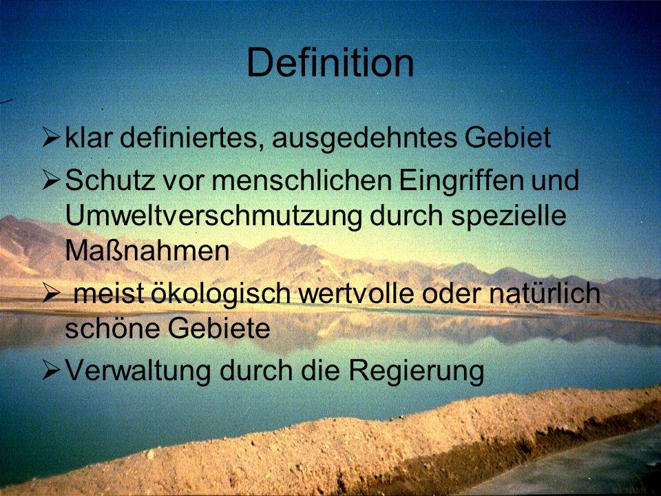 Definition klar definiertes, ausgedehntes Gebiet