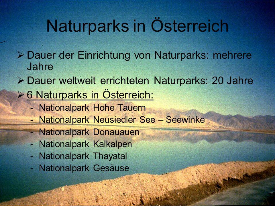 Naturparks in Österreich