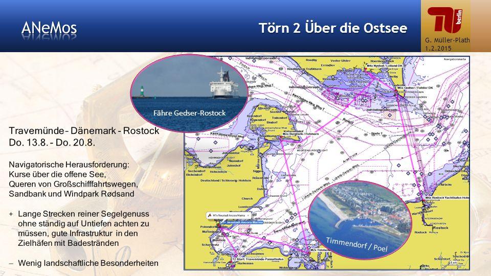 ANeMos Törn 2 Über die Ostsee Travemünde – Dänemark - Rostock