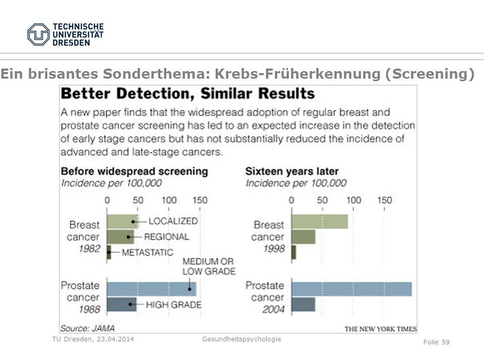 Ein brisantes Sonderthema: Krebs-Früherkennung (Screening)