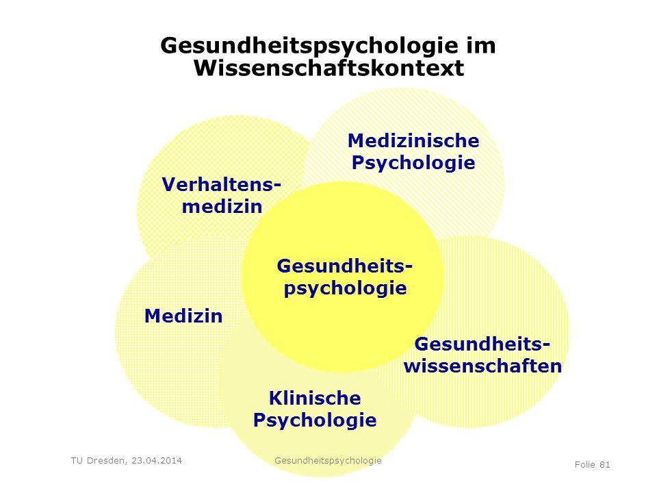 Gesundheitspsychologie im Wissenschaftskontext