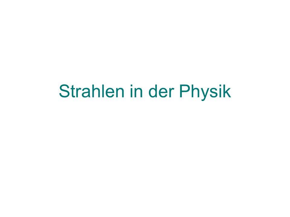 Strahlen in der Physik