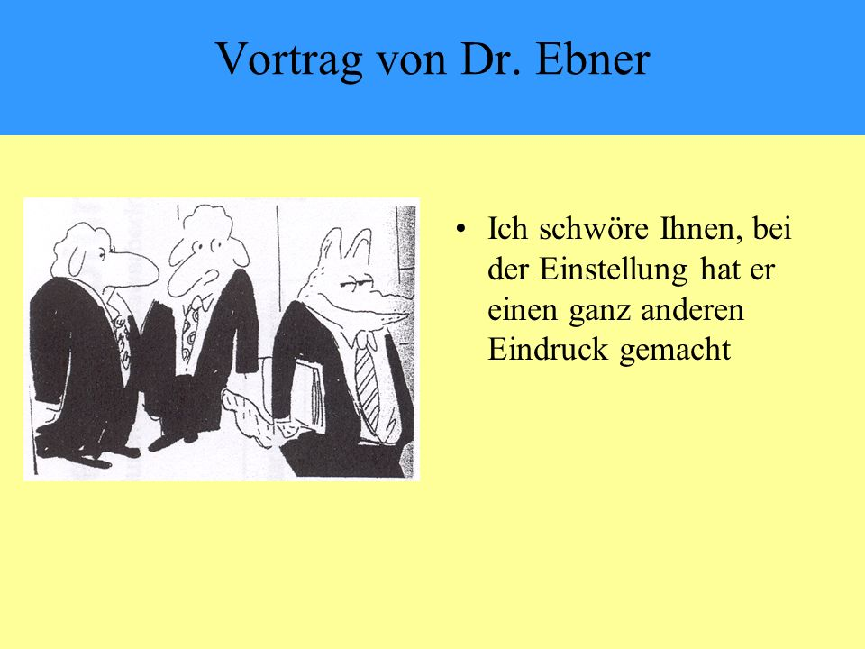 Vortrag von Dr.