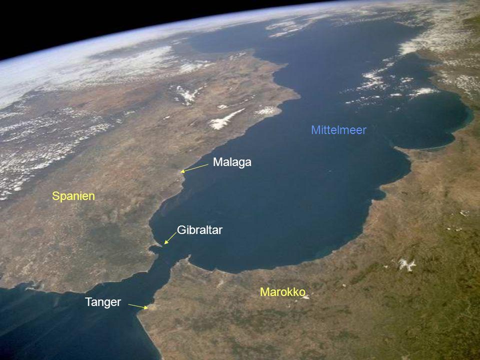 Mittelmeer Malaga Spanien Gibraltar Marokko Tanger