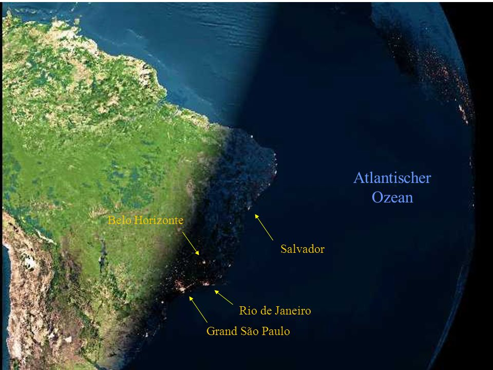 Atlantischer Ozean Belo Horizonte Salvador Rio de Janeiro