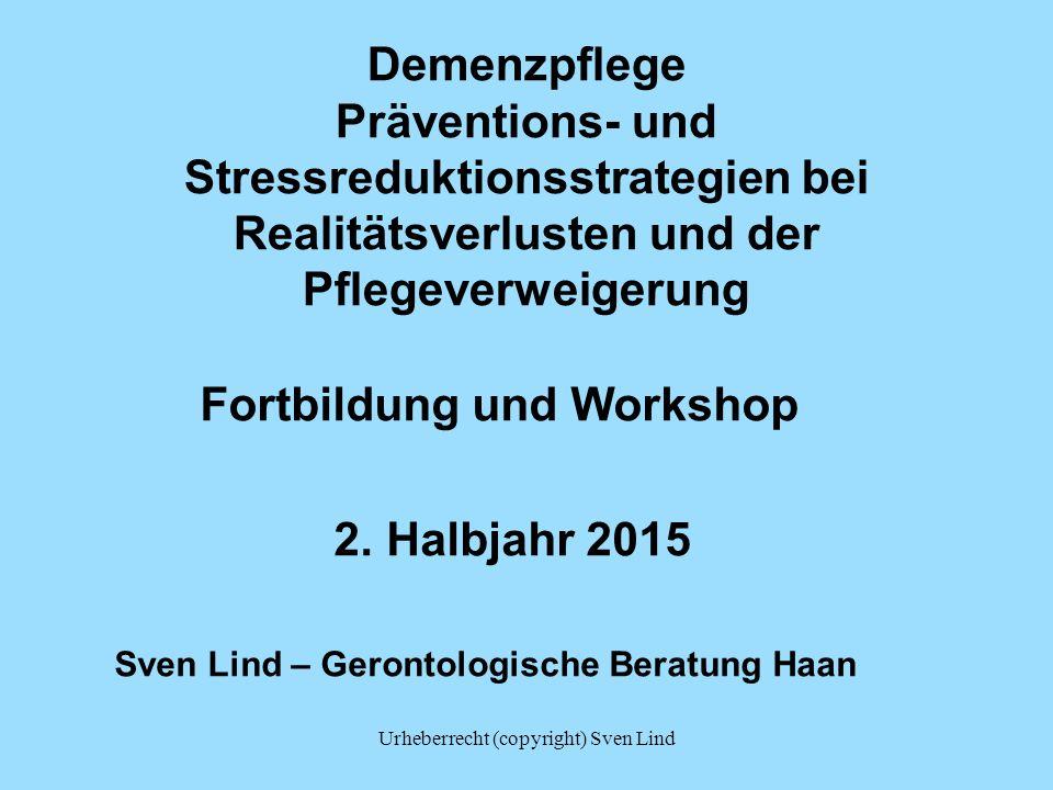 Fortbildung und Workshop 2. Halbjahr 2015