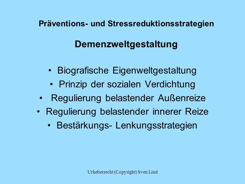 Präventions- und Stressreduktionsstrategien Demenzweltgestaltung