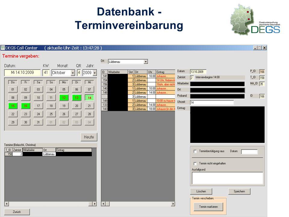 Datenbank - Terminvereinbarung