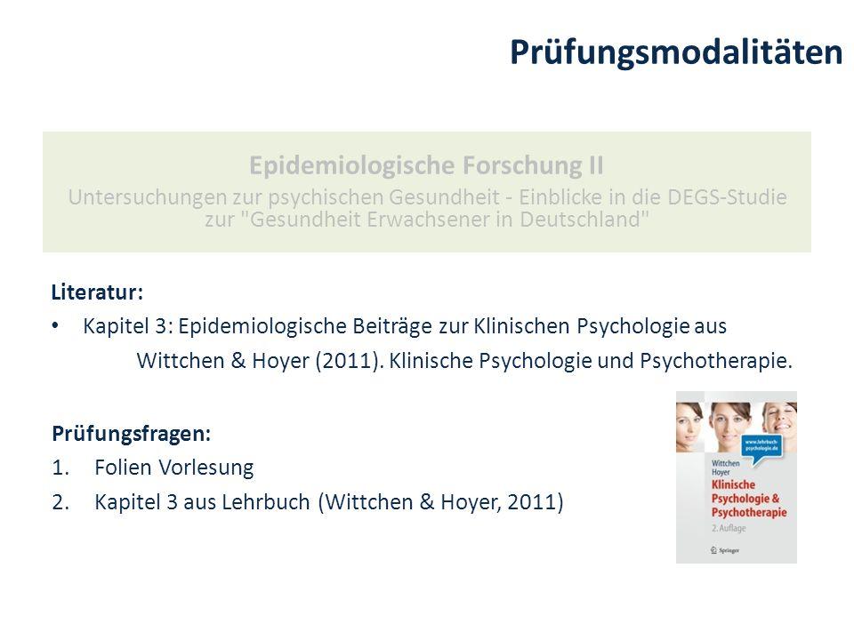 Epidemiologische Forschung II